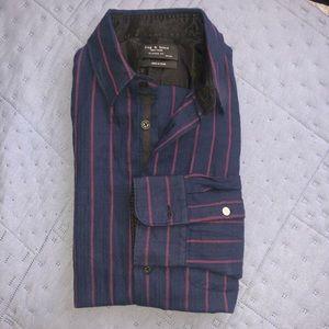 Rag and Bone Mens cotton blend shirt Size M
